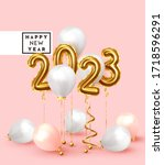 happy new year 2023. background ... | Shutterstock .eps vector #1718596291