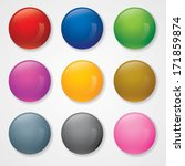 vector illustration of 3d ball... | Shutterstock .eps vector #171859874