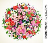 round floral ornament for your... | Shutterstock .eps vector #171860891