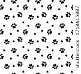 Seamless Cat Pattern.  Cat...