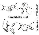 set of handshake symbol.... | Shutterstock .eps vector #171862619