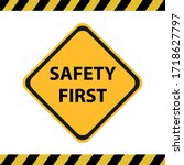 safety symbols and first signs  ... | Shutterstock .eps vector #1718627797