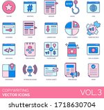 copywriting icons including... | Shutterstock .eps vector #1718630704