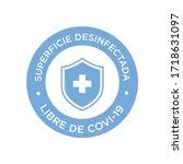 coronavirus disinfected surface ...   Shutterstock .eps vector #1718631097