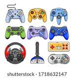 game controller. video game... | Shutterstock .eps vector #1718632147