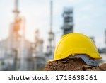 Helmet Worker At Refinery...