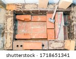 close up view of sauna stove... | Shutterstock . vector #1718651341