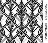 art deco pattern. vector black... | Shutterstock .eps vector #1718662057