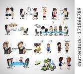 business women   isolated on... | Shutterstock .eps vector #171866789