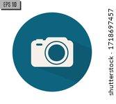 camera icon  flat photo vector... | Shutterstock .eps vector #1718697457