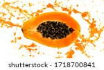 Freeze Motion Of Sliced Papaya...