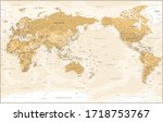 world map   pacific china asia... | Shutterstock .eps vector #1718753767
