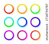 different color gradient round... | Shutterstock .eps vector #1718754787