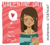 happy valentine day greeting... | Shutterstock .eps vector #171876167