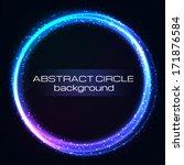shiny rainbow circles... | Shutterstock .eps vector #171876584