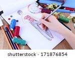 fashion designer close up | Shutterstock . vector #171876854