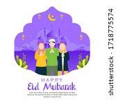 ramadan kareem vector. happy...   Shutterstock .eps vector #1718775574