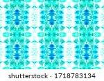abstract tunisian ethnic decor. ... | Shutterstock . vector #1718783134