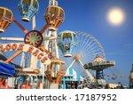 amusement park rides | Shutterstock . vector #17187952