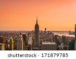 aerial view of manhattan  new... | Shutterstock . vector #171879785