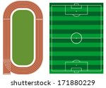 athletics track with soccer... | Shutterstock .eps vector #171880229