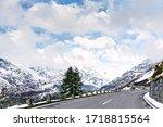 Mountains road in Austria. Grossglockner.   Alps landscape.  - stock photo