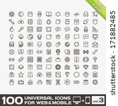 100 universal icons for web and ... | Shutterstock .eps vector #171882485