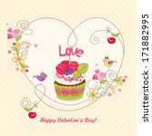 Greeting Card With Raspberry...