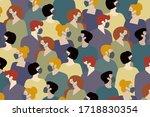 coronavirus in russia. novel... | Shutterstock .eps vector #1718830354