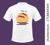 sun sky t shirt design  nature... | Shutterstock .eps vector #1718834344