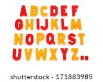 alphabet on a white background | Shutterstock . vector #171883985