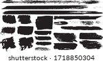 set of vector grunge brushes in ...   Shutterstock .eps vector #1718850304