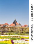 Saxon State Chancellery in the spring in the Saxon capital Dresden, Germany