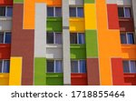 Colored Building Facade With...
