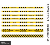 black and yellow stripes.... | Shutterstock .eps vector #1718856211