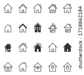 set of home icon vector... | Shutterstock .eps vector #1718862184