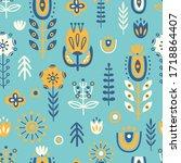 seamless pattern in...   Shutterstock .eps vector #1718864407