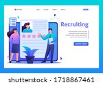 young team looking for... | Shutterstock .eps vector #1718867461