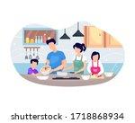 vector illustration family... | Shutterstock .eps vector #1718868934