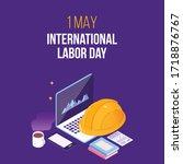 international labor day  may... | Shutterstock .eps vector #1718876767
