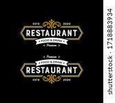 elegant premium restaurant food ...   Shutterstock .eps vector #1718883934