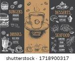 coffee menu. restaurant cafe... | Shutterstock .eps vector #1718900317