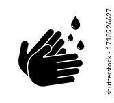 hand wash icon symbol vector.... | Shutterstock .eps vector #1718926627