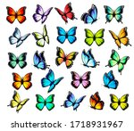 big group of colorful... | Shutterstock .eps vector #1718931967