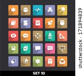trendy vector icons with long... | Shutterstock .eps vector #171894839