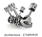 v4 engine pistons and cog... | Shutterstock . vector #171894929