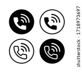 phone call vector icon for web...