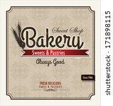 vintage bakery poster | Shutterstock .eps vector #171898115