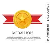vector illustration of a medal... | Shutterstock .eps vector #1719005437