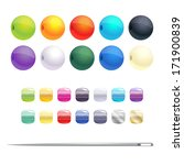 Set Of Different Round Beads...